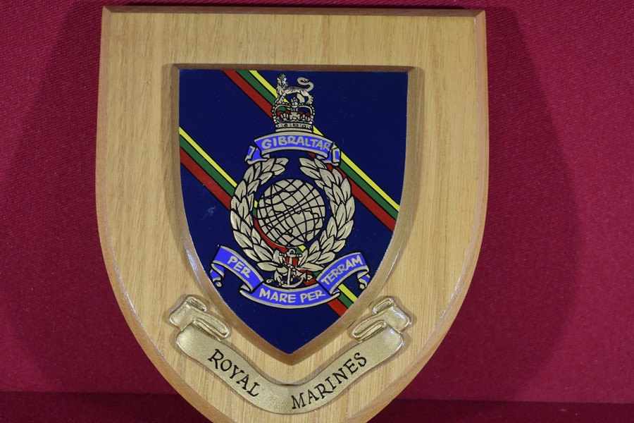 ROYAL MARINES WALL PLAQUE